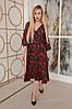 Женское платье миди с цветочным принтом и разрезами размер 42-48, фото 5