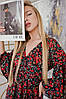Женское платье миди с цветочным принтом и разрезами размер 42-48, фото 7
