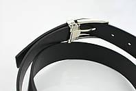 Мужской брючный кожаный ремень черного цвета размер s, фото 6