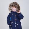 Куртка-парка синяя на меху на мальчика Гарри 80 рост