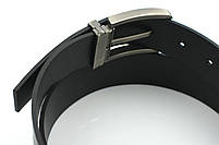 Мужской джинсовый кожаный ремень черного цвета размер m 110 см, фото 8