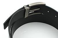 Мужской джинсовый кожаный ремень черного цвета размер xxl 125 см, фото 8