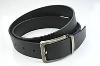 Мужской джинсовый кожаный ремень черного цвета размер xxl 125 см, фото 9