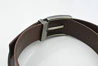Мужской джинсовый кожаный ремень коричневого цвета размер m 110 см, фото 7