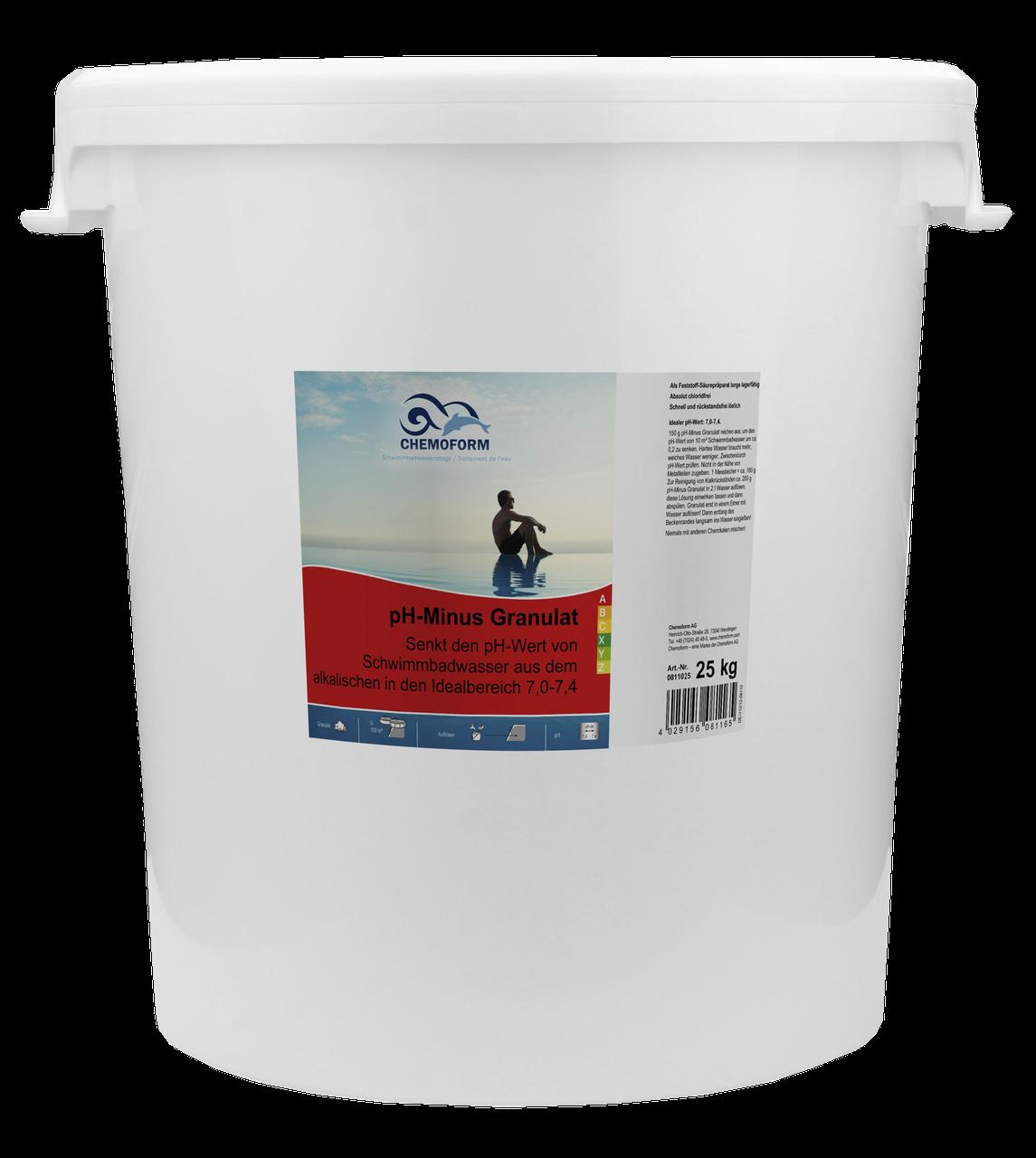 Химия для бассейна Chemoform |  pH плюс в гранулах (25 кг)