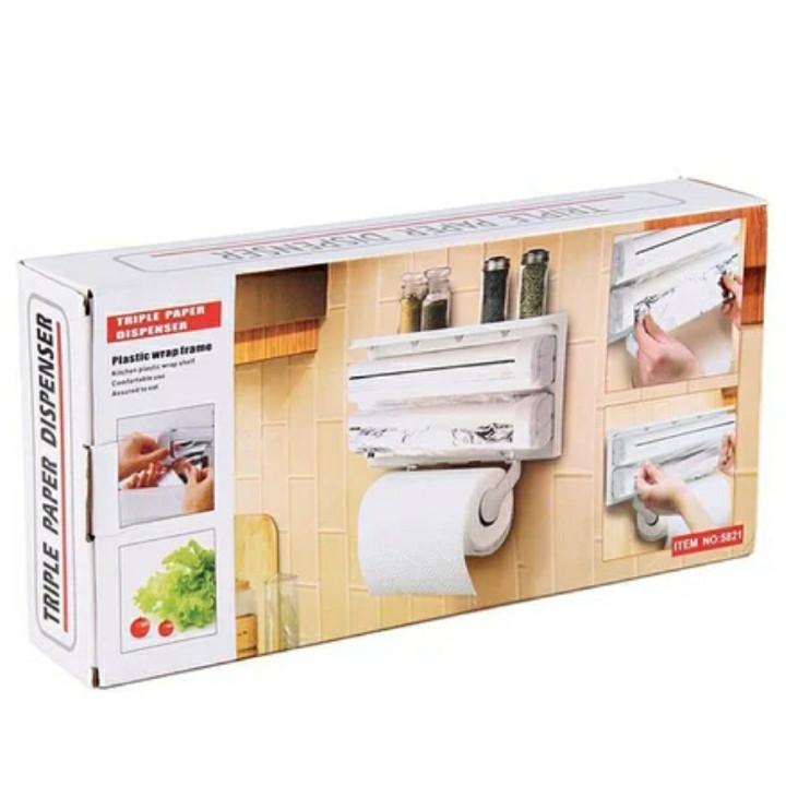Кухонный диспенсер для пленки, фольги и полотенец 3 в 1