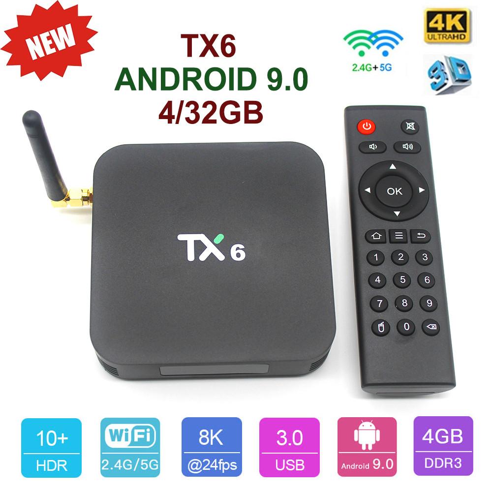 TV-Приставка Tanix TX6 4/32GB (Android Smart TV BOX, Андроид Смарт ТВ Приставка, Андроїд тв бокс)