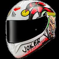 MT Targo Joker A0 Gloss Pearl White, XS Мотошлем интеграл, фото 1