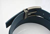 Мужской джинсовый кожаный ремень синего цвета размер xl 120 см, фото 7