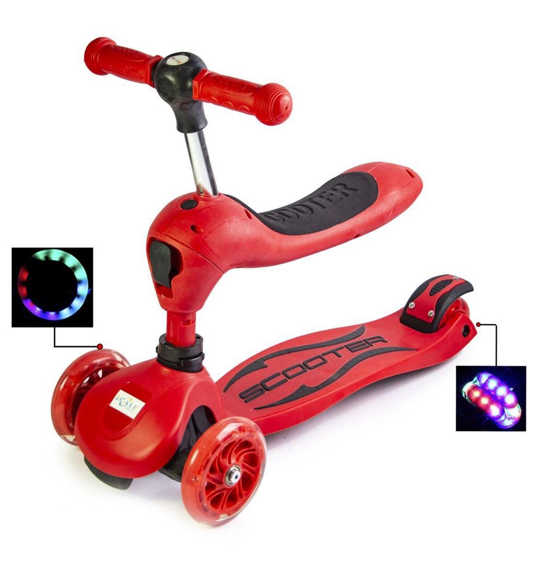 Самокат Трансформер 5 в 1 Scale Sports для мальчика, от 2 лет, Красный
