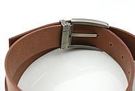 Мужской джинсовый кожаный ремень коньячного цвета размер l 115 см, фото 5