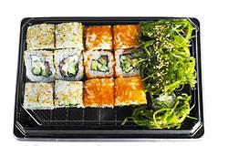 Упаковка для суши и роллов, васаби, имбирь