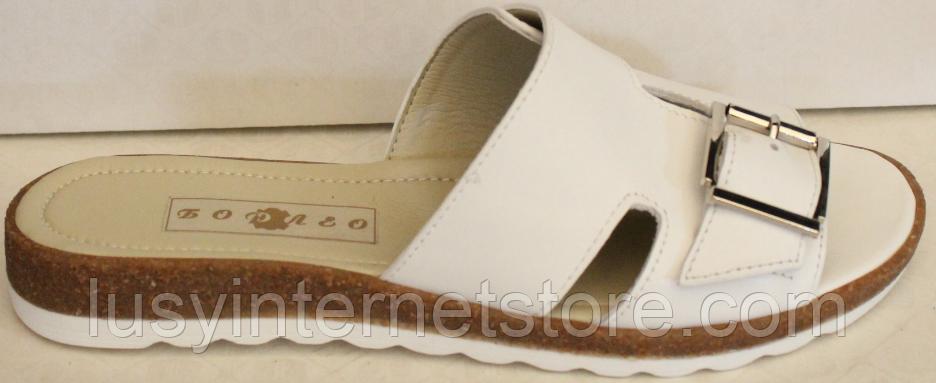 Сабо бежевые кожаные женские от производителя модель БМ501