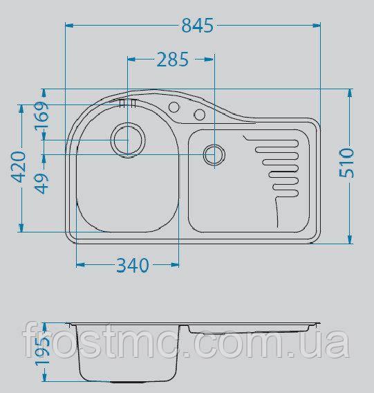 Кухонна мийка ALVEUS FUTUR 30 L (А56 macchiato)