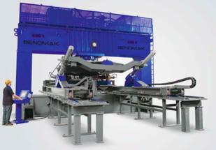 Пресс для фланжировки Bendmak BMBP 1200xD Толщина металла 50 мм Усилие 800 т