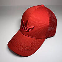 Бейсболка унисекс Adidas реплика Красная с сеткой