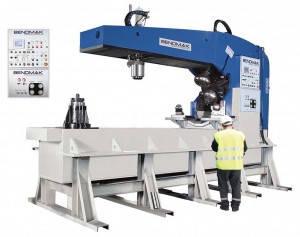 Кромкогибочная машина для отбортовки кромки днищ BFM20xD Толщина металла 20 мм Усилие 250 т