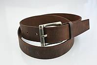 Мужской джинсовый кожаный ремень коричневого цвета размер l 115 см, фото 7