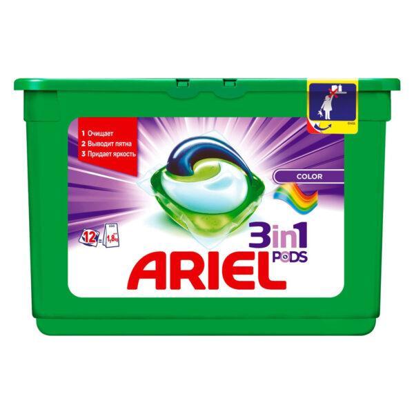 Капсулы для стирки Ariel PODS Color & Style, 12 шт