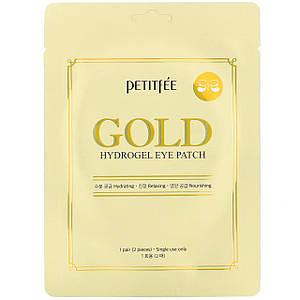 Гидрогелевые патчи для глаз с золотым комплексом +5  PETITFEE Gold Hydrogel Eye Patch (1 пара)
