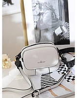 Белая кожаная сумочка Polina & Eiterou (93041/White)