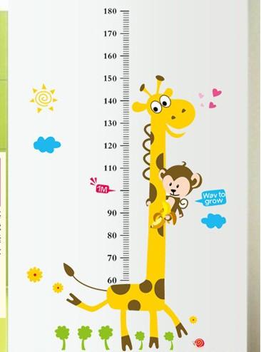 Інтер'єрна наліпка на стіну ростомір Жираф / Интерьерная наклейка на стену ростомер Жираф