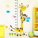 Інтер'єрна наліпка на стіну ростомір Жираф / Интерьерная наклейка на стену ростомер Жираф, фото 3