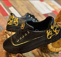 Мужские кроссовки Versace CK556 черные