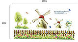 Інтер'єна наліпка на стіну Вітряки / Интерьерная наклейка на стену Ветряные Мельницы (ay907), фото 2