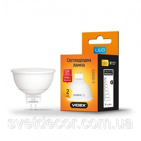 Светодиодная лампа Videx MR16 12V 6W GU5.3 4100K 220V