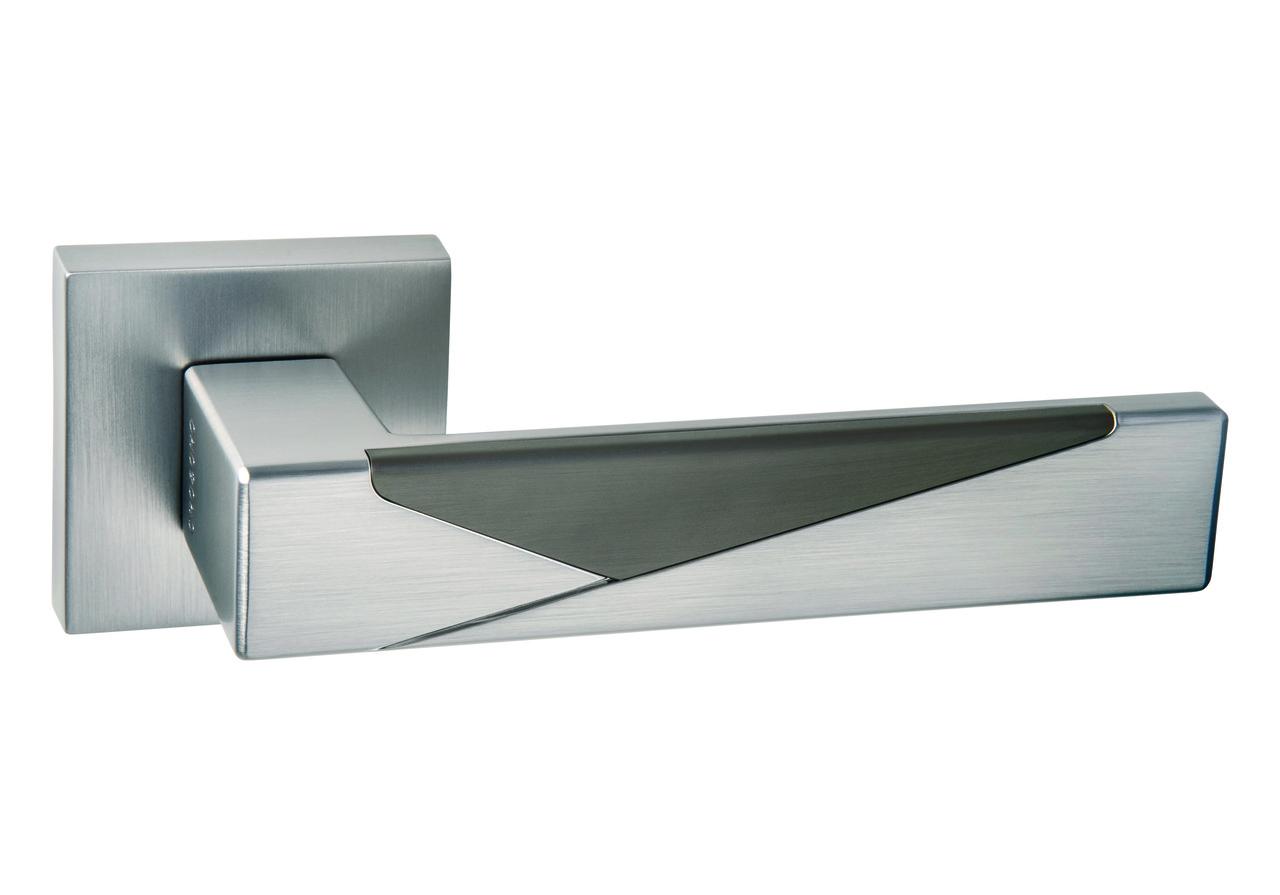 Итальянская дверная ручка ORO&ORO 075-15E MSN/Titanium - Матовый никель/Титан (вставка))