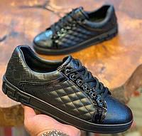 Мужские кроссовки Versace CK558 черные