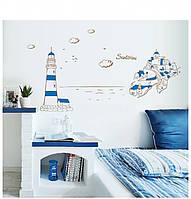 Інтер'єрна наліпка на стіну Море / Интерьерная наклейка на стену Море AY9185