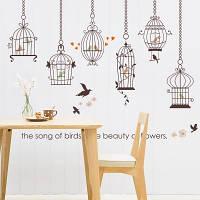 Інтер'єрна наліпка на стіну Птахи / Интерьерная наклейка на стену Птицы SK9088