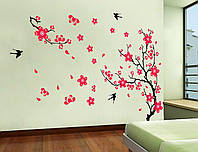 Інтер'єрна наклейка на стіну Цвітіння Сакури / Интерьерная наклейка на стену Цвет Сакуры (ay818 )