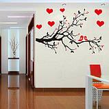 Інтер'єрна наліпка на стіну Пташки на гілці / Интерьерная декоративная наклейка на стену Птицы на ветке AY7179, фото 4