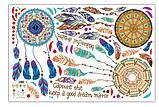 Інтер'єрна наліпка на стіну Ловець снів / Интерьерная наклейка на стену Ловец снов XL8270, фото 4