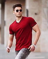 Мужская футболка с треугольным вырезом  СММ  f104, f110
