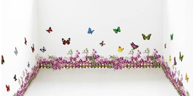 Интерьерная наклейка на стену Бабочки AM810