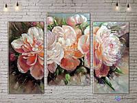 Модульные картины цветы Пионы ADFL0196