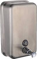 Дозатор жидкого мыла (Диспенсер) HOTEC на 1000мл вертикальный на стену (нержавейка)