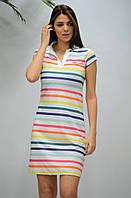 """Плаття жіночі в кольорову смужку розміри S-2XL """"GEREKLI"""" недорого від прямого постачальника"""