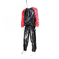 Костюм-сауна LiveUp PVC Sauna Suit S/M Black-Red (LS3034-SM)