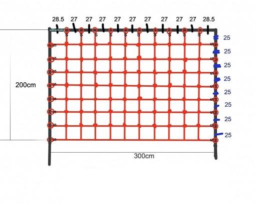 Гладіаторська сітка для лазіння 200 x 300 см S-Hook на дитячий майданчик