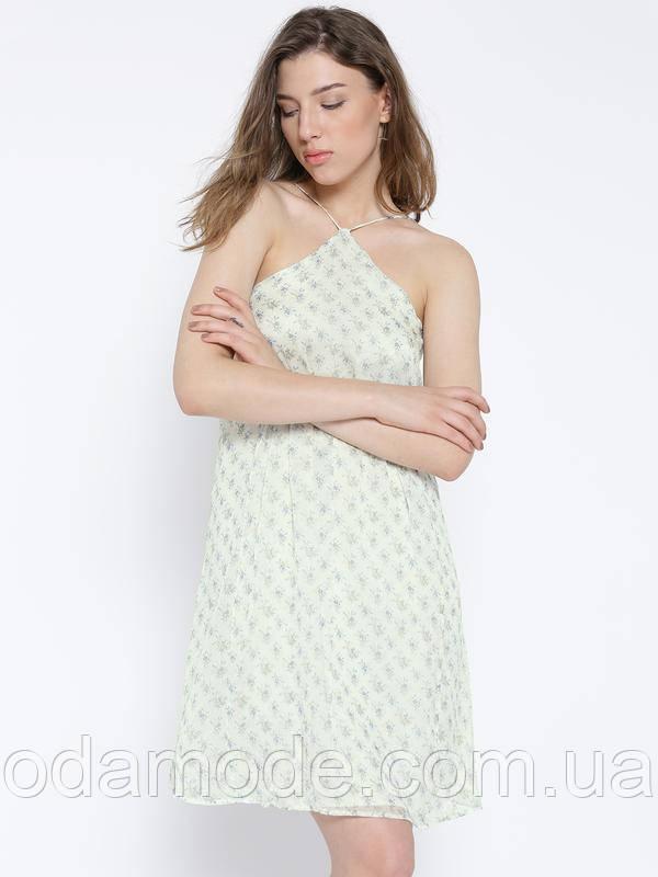 Сарафан женский mango белое/голубое