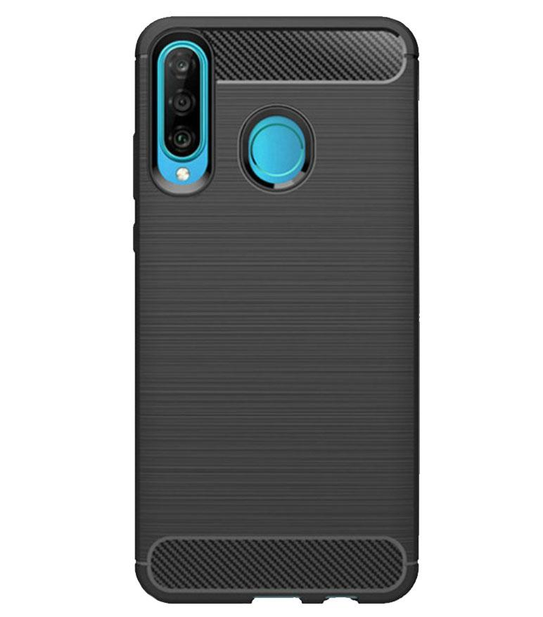 Чехол Primo Carbon Fiber Series для Huawei P30 Lite / Nova 4e - Black