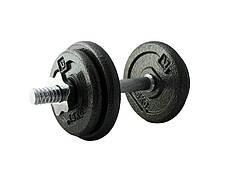 Гантель збірна LiveUp Dumbell Set 5-10 кг Black (LS2311-10)
