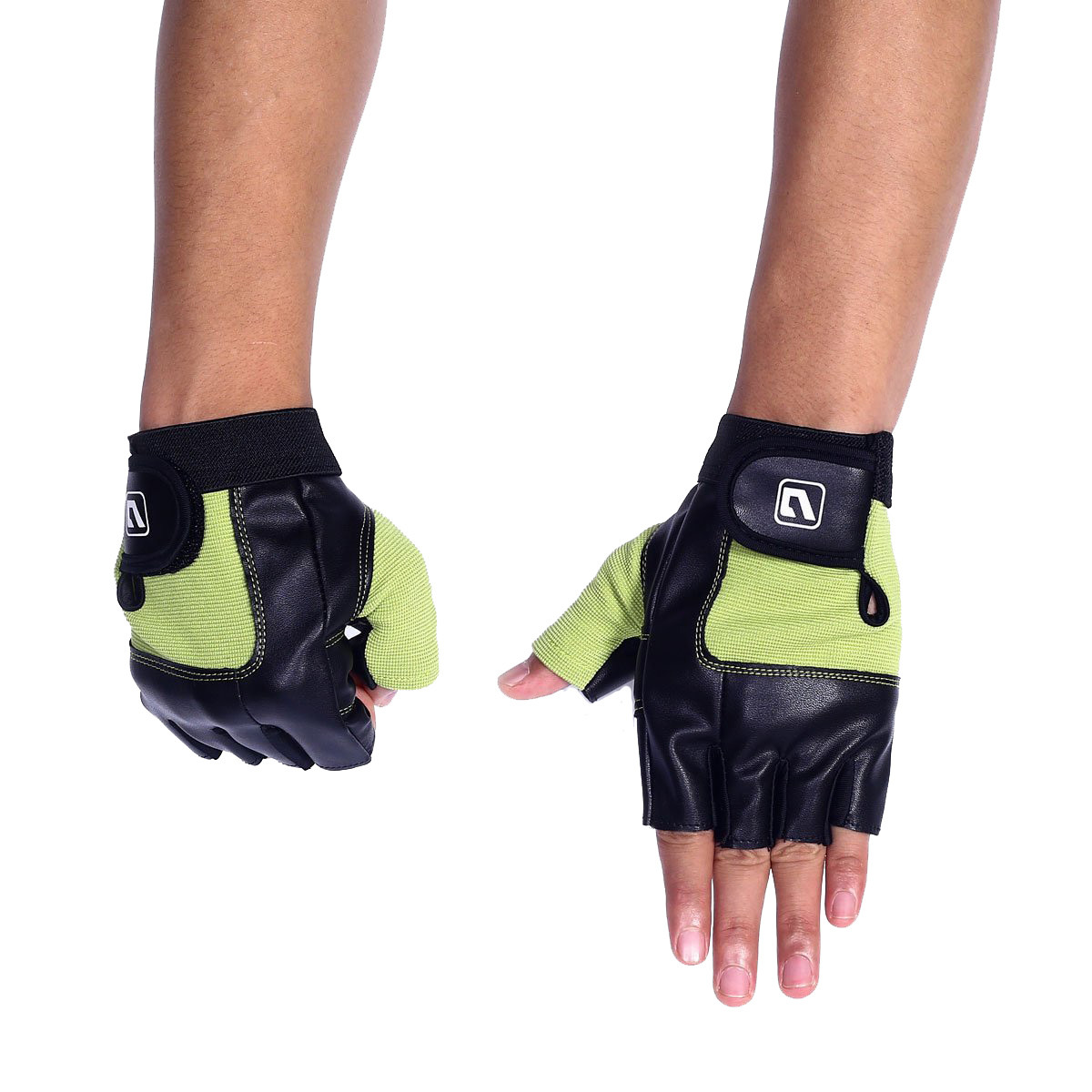 Перчатки LiveUp Training Gloves Black-Green (LS3058-LXL)