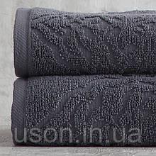 Набор махровых полотенец ( 50*85, 75*150 ) TM Pavia Турция Carina antrasit