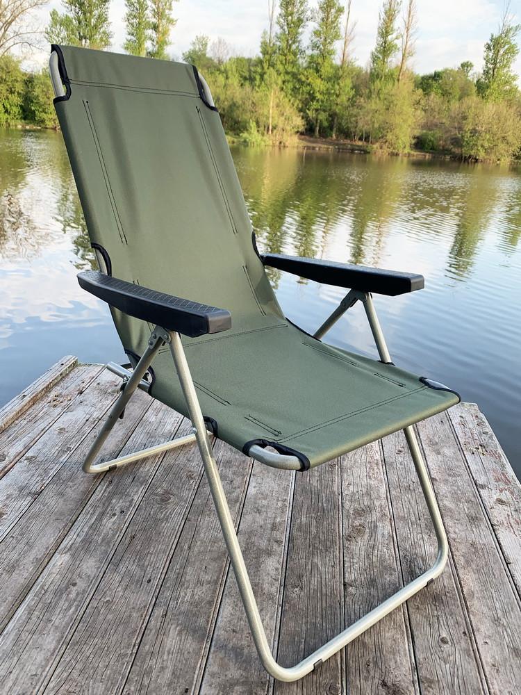 Кресло-шезлонг складной Mavens F-2 хаки усиленное сидение (05-0015)